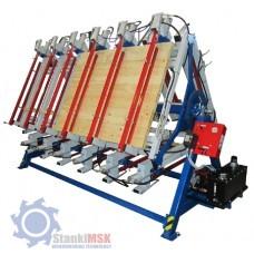 ПГР 3-3000 Гидравлический роторный пресс для бруса и щита с тремя рабочими полями
