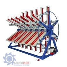 ПГР 6-2500/50  Гидравлический роторный пресс для бруса и щита с шестью рабочими полями